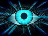 High-tech computer digital technology, global surveillance